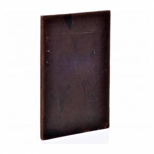 Balustrade, doors, railings: Nativity accessory, plaster door, dark wood colour,10x7cm