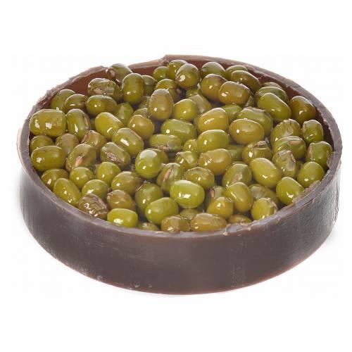 Nativity accessory, plastic box with olives, diam. 5cm s2