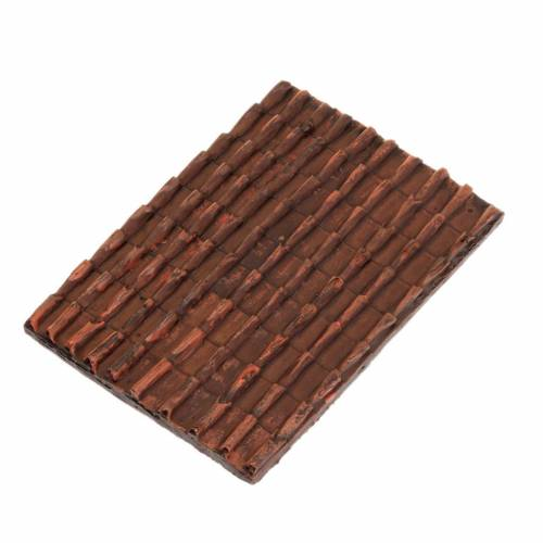 Nativity accessory, roof with red tiles for do-it-yourself nativ s1