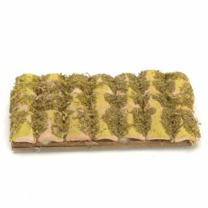 Nativity accessory, roof with tiles and moss 13x7cm s1
