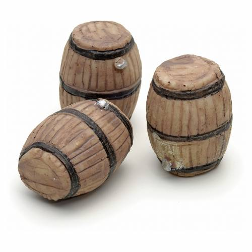 Nativity accessory, set of three casks H3cm s1
