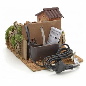 Nativity accessory, watermill 13x20x25 cm s3