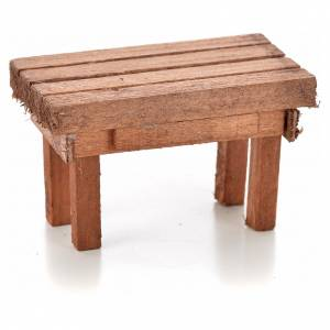 Home accessories miniatures: Nativity accessory, wooden table 6x3.5x3.5cm