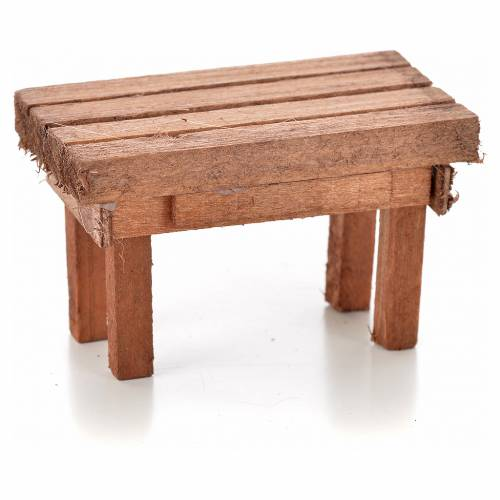 Nativity accessory, wooden table 6x3.5x3.5cm s1