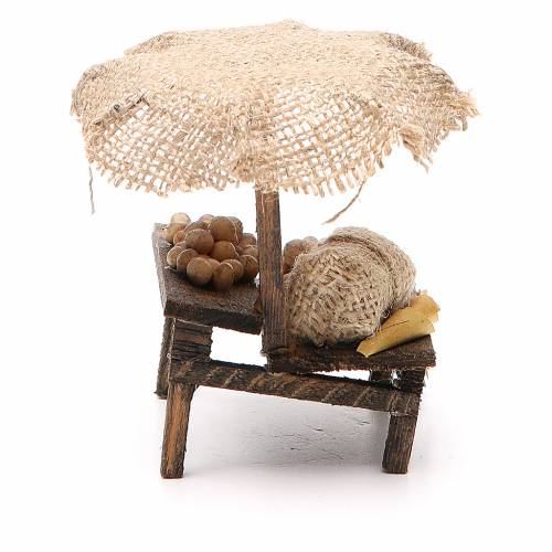 Nativity Bench with eggs and beach umbrella 12x10x12cm s2