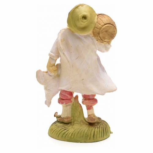 Nativity figurine, farmer with cask on shoulder 8cm s2