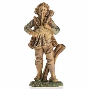 Nativity figurine, piper in resin, 8cm s1