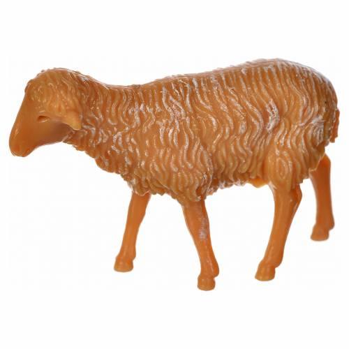 Nativity figurine, sheep in PVC 6 cm s2