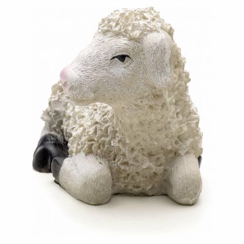 Nativity figurine, sheep in resin measuring 16x6x8cm s3