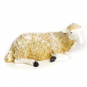 Nativity figurine, sitting lamb in wood pulp, 30 cm s1