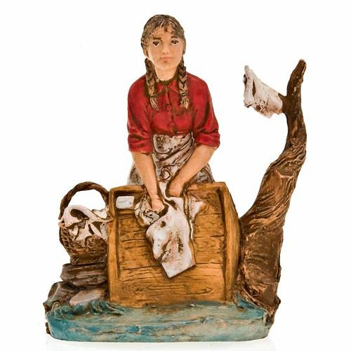 Nativity figurine, washerwoman at the river 10cm s1