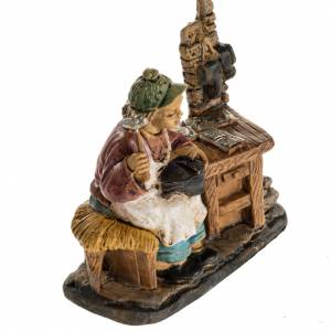 Nativity figurines, shoemaker in resin 10cm s2