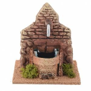 Fountains: Nativity fountain in terracotta, Arabian style 13x12x12cm