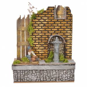 Fountains: Nativity fountain with water recycle pump 16x20x14cm