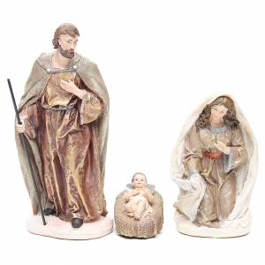 Nativity measuring 31cm, in resin with multi Gold finish s2