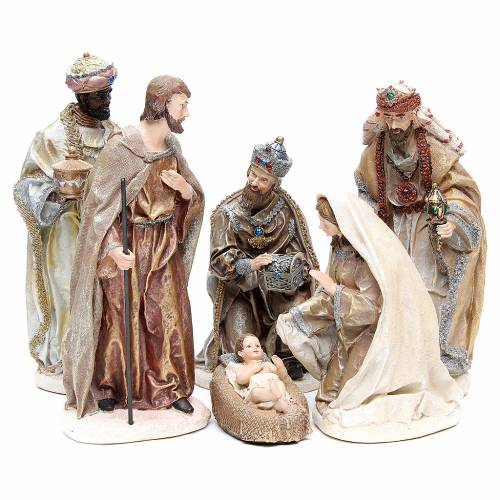 Nativity measuring 31cm, in resin with multi Gold finish s1