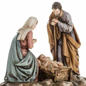 Nativity sets: Nativity on base by Landi, 11 cm