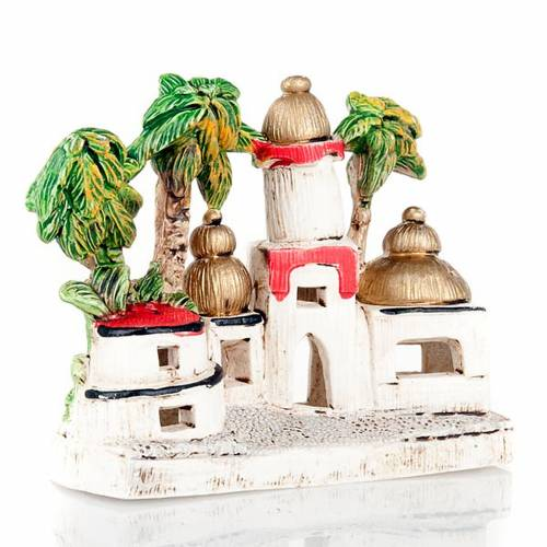 Nativity scene accessory, Arabic-style houses s4