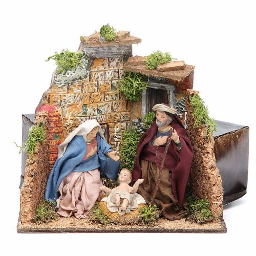 Nativity scene animated figurine for Neapolitan Nativity, 10cm s1