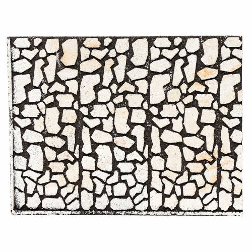 Nativity scene backdrop, cork panel with stone bricks drawing 24 s1