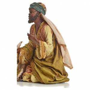 Nativity scene, Ethiopian Wise Man 18cm, Angela Tripi s2