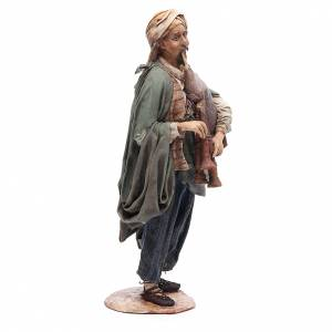 Nativity scene figurine, bagpiper player, Angela Tripi s4