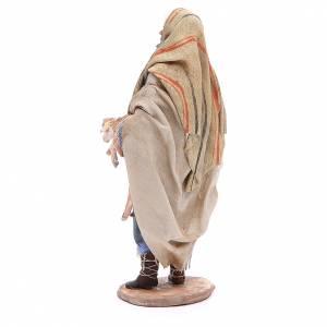 Nativity scene figurine, good shepherd 18cm, Angel Tripi s3