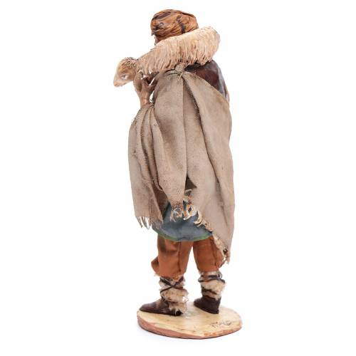 Nativity scene figurine, shepherd with lamb 18cm, Angela Tripi s3
