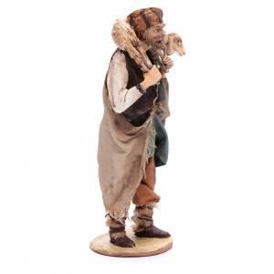 Nativity scene figurine, shepherd with lamb 18cm, Angela Tripi s4