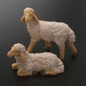 Nativity scene figurines, brown plastic sheep, 4 pieces 20cm s2