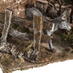 Nativity scene figurines, donkey in the pen s4