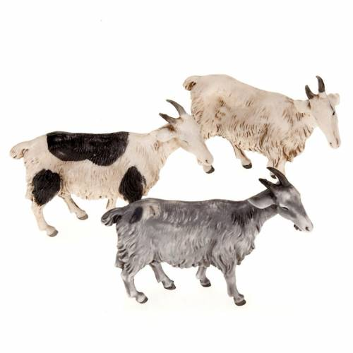 Nativity scene figurines, goats 10cm, 3 pieces s1