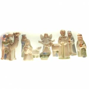 Stylized Nativity scene: Nativity scene in ceramic, 10cm
