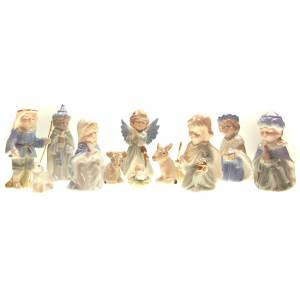 Stylized Nativity scene: Nativity scene in ceramic measuring 10cm