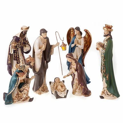 Nativity scene in resin, 33 cm s1