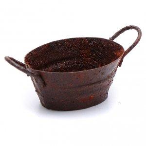 Home accessories miniatures: Nativity scene metal rusted tub 3,5x5,5 cm