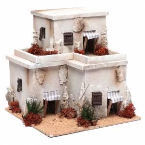 Settings, houses, workshops, wells: Nativity scene minarets30x25x25