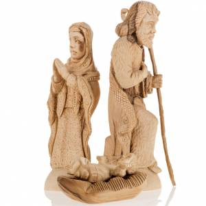Nativity scene olive wood, Bethlehem 14 cm s6