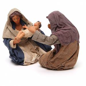 Nativity scene, sitting, Neapolitan nativity 24cm s2