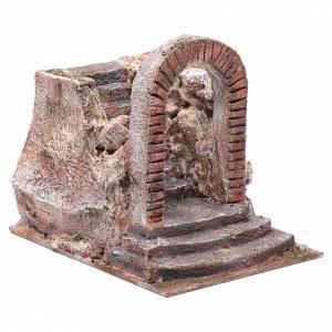 Nativity scene stairway with arch 15x15x20 cm s3