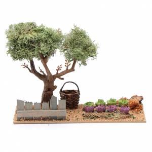 Settings, houses, workshops, wells: Nativity scene vegetable garden15x20x10 cm