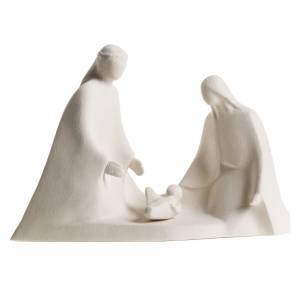 Stylized Nativity scene: Nativity scene with base in fire clay