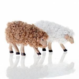 Nativity set accessory Bent head sheep 12 cm mixed colors s2
