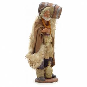 Neapolitan Nativity Scene: Nativity set accessory Man with barrel and flask 14 cm figurine