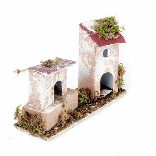 Nativity set accessory, set of two houses 2