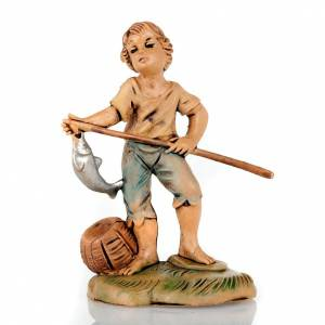 Nativity set accessory, Young fisherman with fish s1