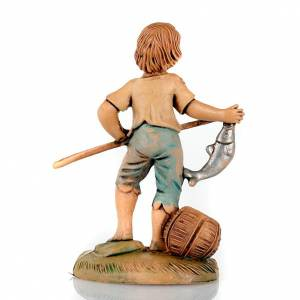 Nativity set accessory, Young fisherman with fish s2