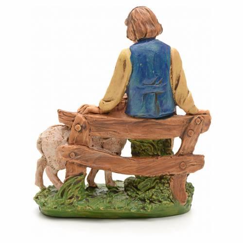 Nativity set figurine Shepherd 10cm s2