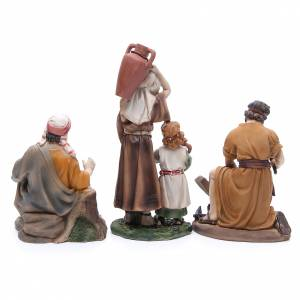 Nativity set in resin, 6 figurines representing the professions 22cm s4