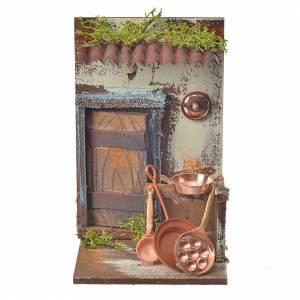 Nativity setting, copper smith's workshop 15x9,5x9,5cm s4